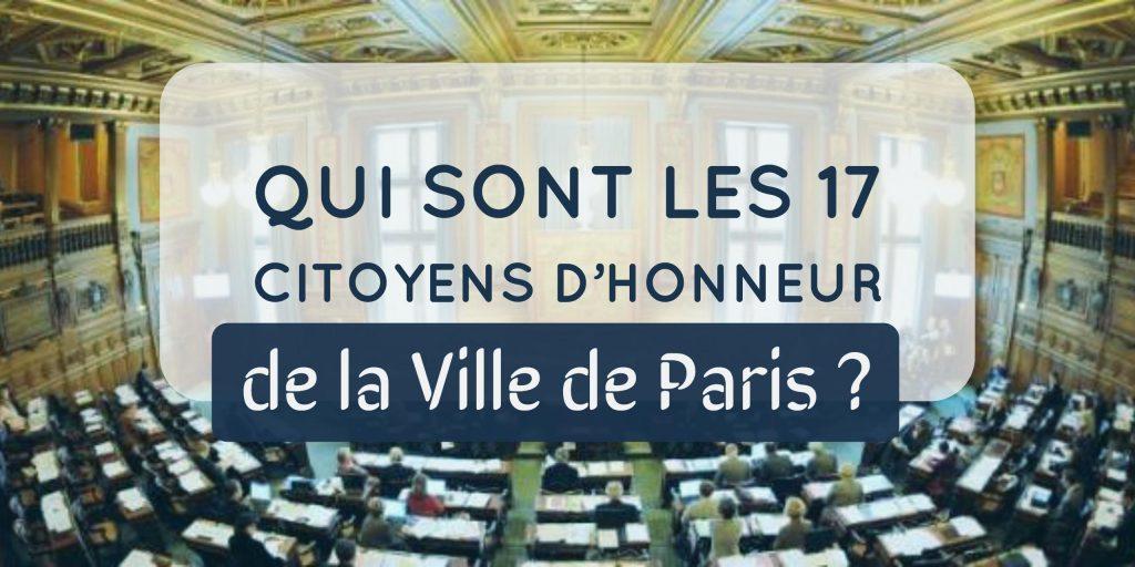 citoyens honneur paris