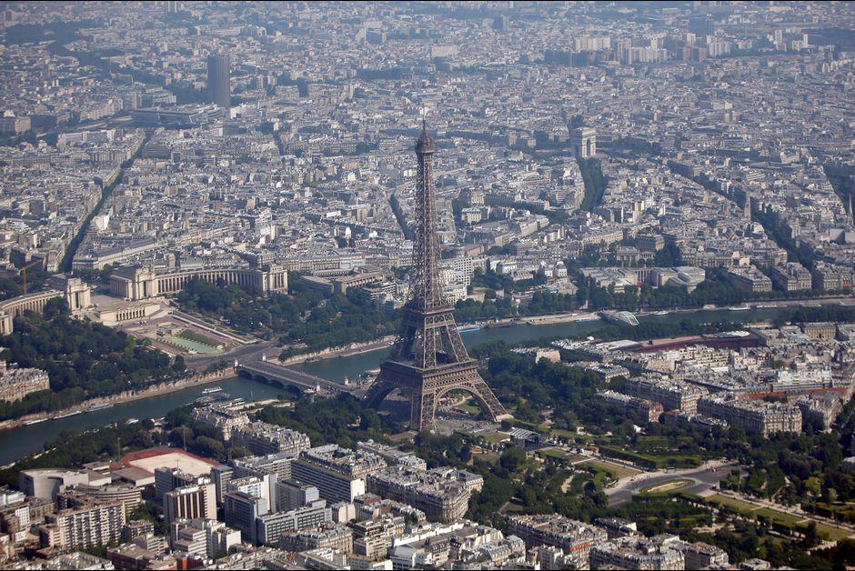 Tour Eiffel vue du ciel