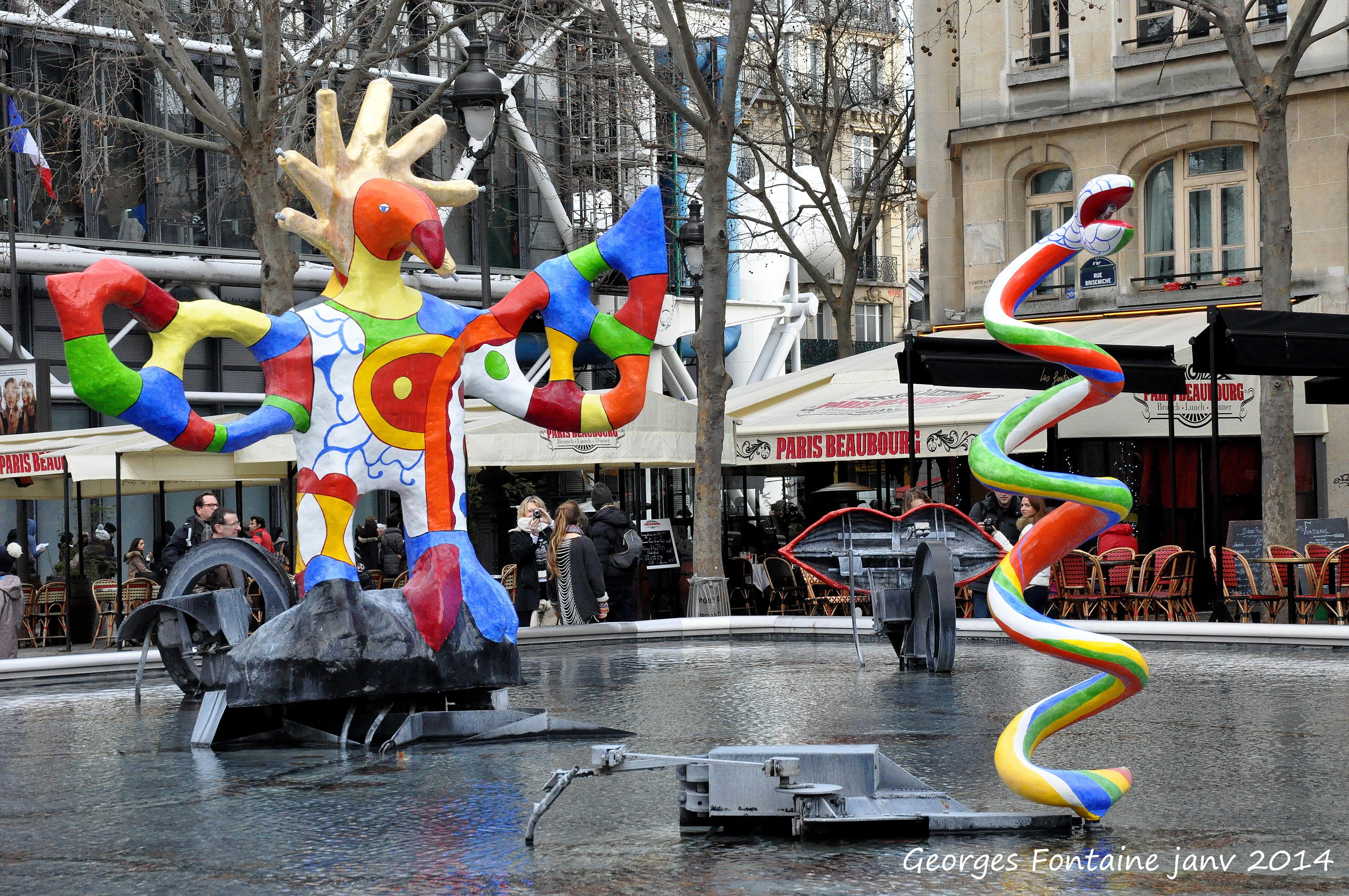 plus belles fontaines de paris Stravinsky