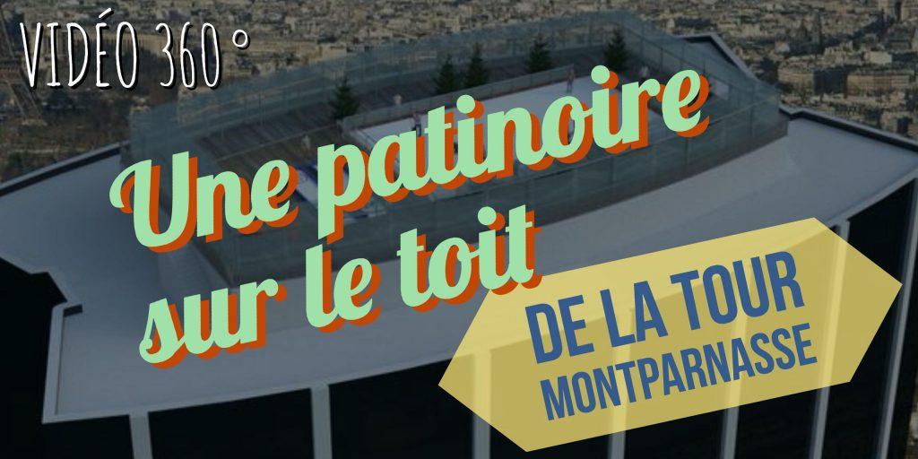 patinoire sur le toit de la tour montparnasse