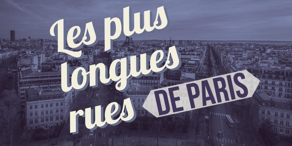 plus longues rues de Paris