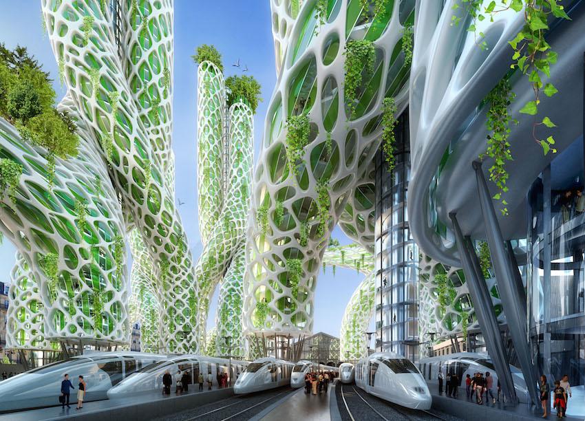 Paris en 2050 GARE DU NORD 2050