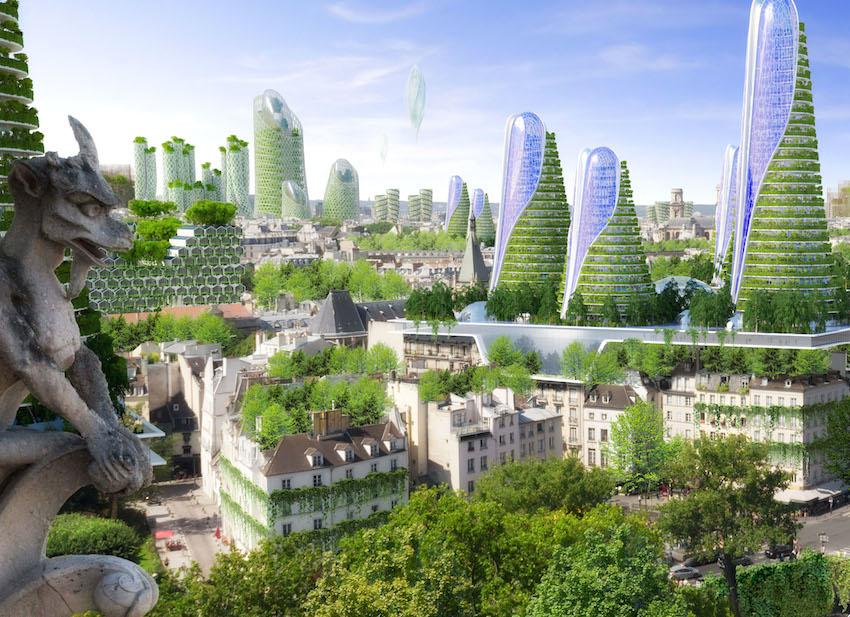 Paris en 2050 VUE DEPUIS NOTRE DAME