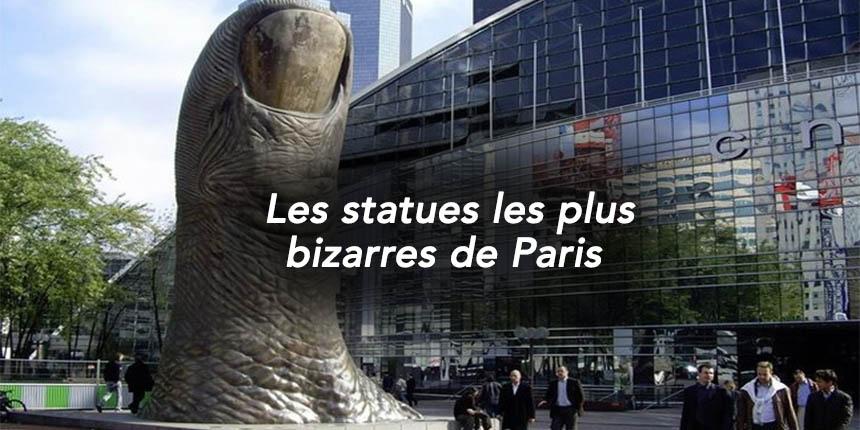 statues les plus bizarres de Paris