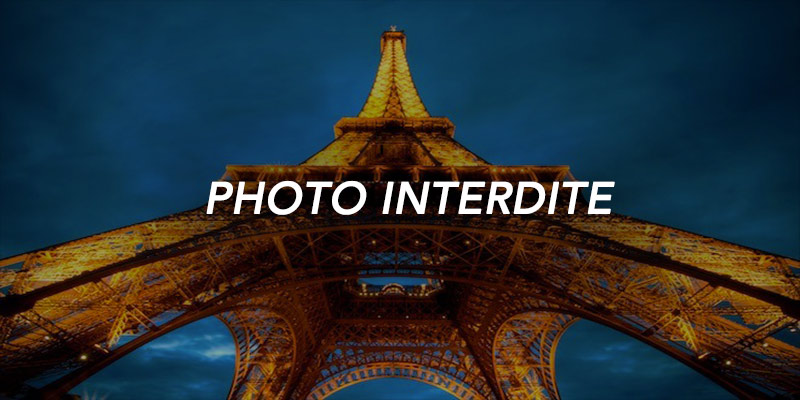 interdit de photographier la tour eiffel