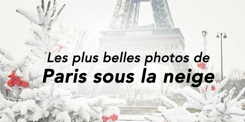 photos de Paris sous la neige
