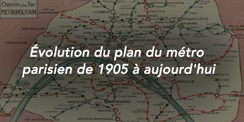 évolution du plan du métro parisien