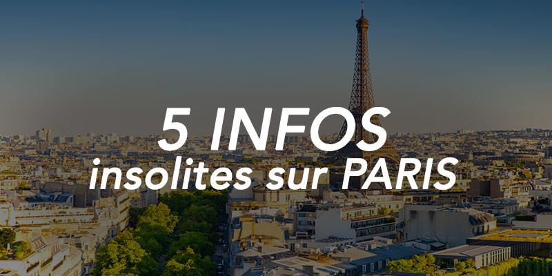 infos insolites sur Paris